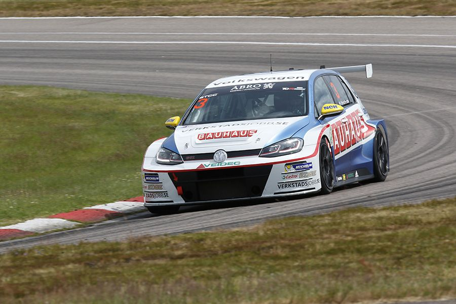 Johan Kristoffersson on pole position at Anderstorp