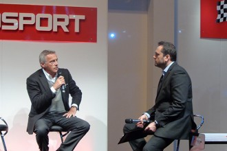 Marcello Lotti takes to the stage at Autosport Show