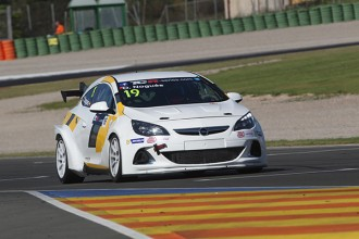 Campos Racing Opel cars in steep progress curve