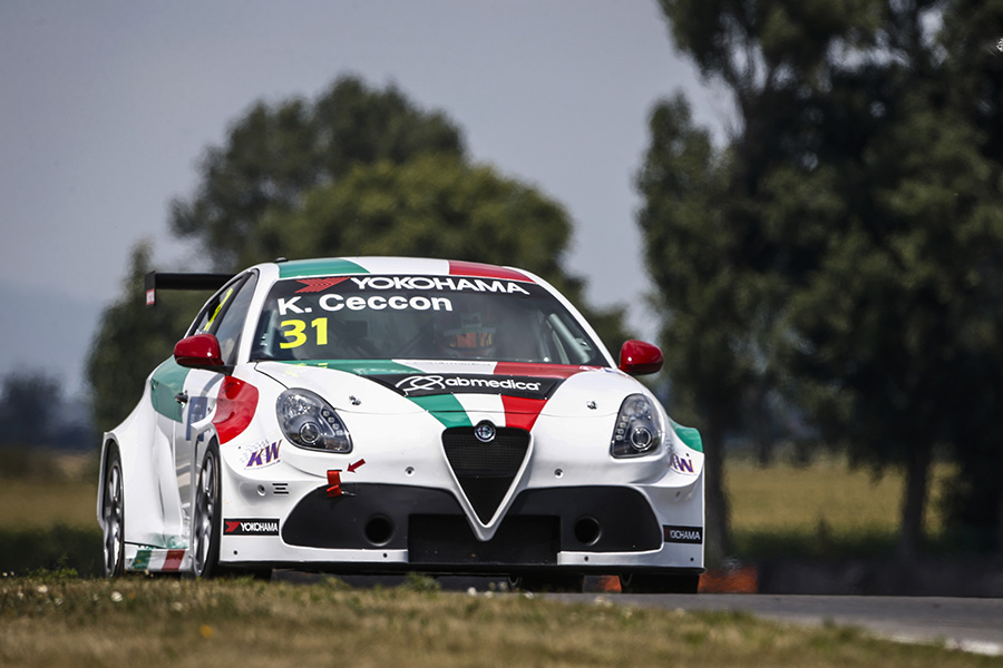 Kevin Ceccon to race at Vallelunga in a Giulietta TCR