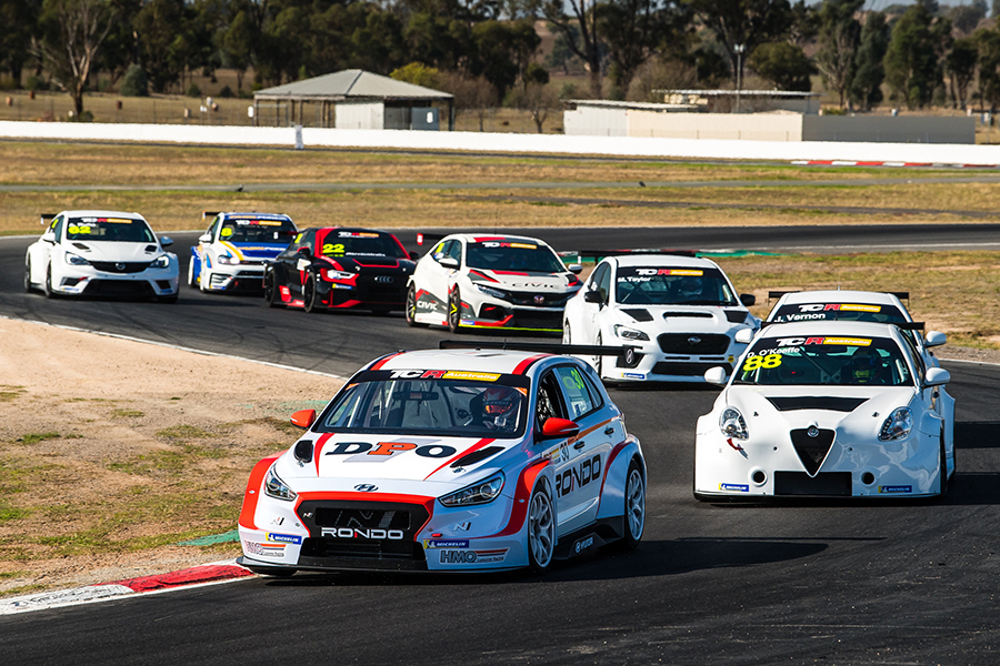 Winton hosted TCR Australia's pre-season test day