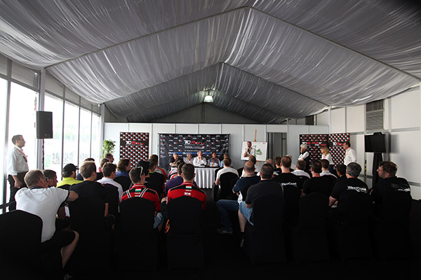 TCR drivers attended the briefing in Sepang