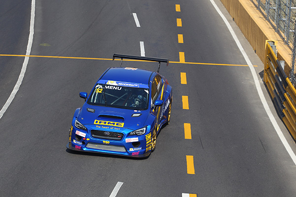 Engine troubles hit Alain Menu's Subaru