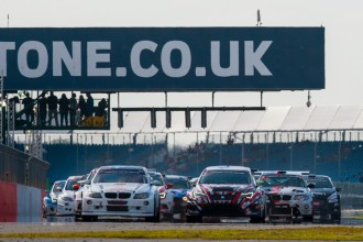 TCR cars on the podium in Silverstone enduro