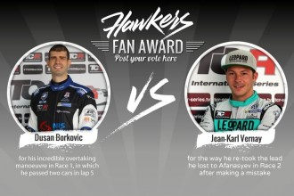 Borković and Vernay face in Hawkers Fan Award