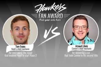 Hawkers Fan Award: chief mechanics get nominations