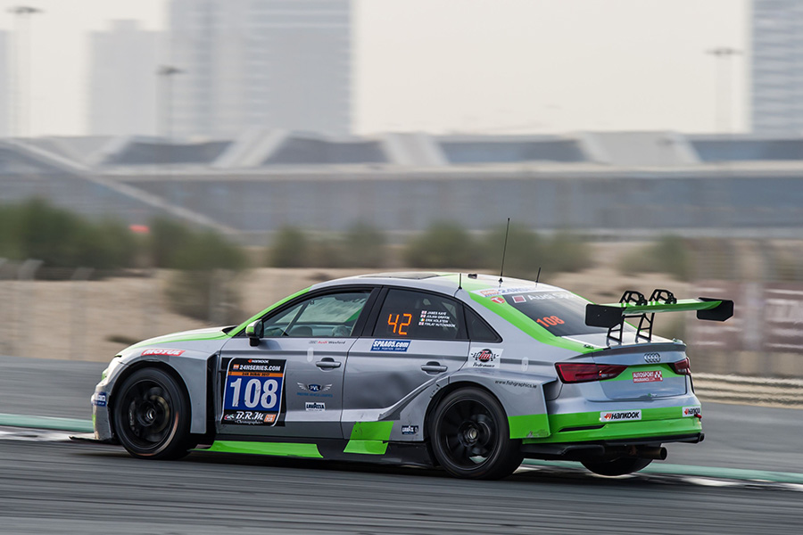 The CadSpeed Racing Audi wins TCR class in the 24H Dubai