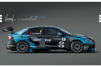 Comini in an Audi RS 3 LMS run by Comtoyou Racing